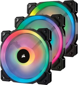 Corsair Lüfter LL120 RGB LED PWM Dual-Licht-Loop 3er Pack inkl Lighting Node PRO – Bild 1