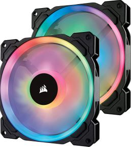Corsair Lüfter LL140 RGB LED PWM Dual-Licht-Loop 2er Pack inkl Lighting Node PRO – Bild 1