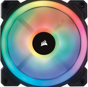 Corsair Lüfter LL140 RGB LED PWM Dual-Licht-Loop 2er Pack inkl Lighting Node PRO – Bild 2