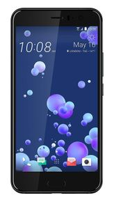 HTC U11 Smartphone, 5,5 Zoll, 16 MP Frontkamera, 64GB Speicher, Android, schwarz – Bild 1
