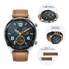 "HUAWEI Watch GT Smartwatch, 1,39"" AMOLED Touchscreen GPS Fitness Tracker braun – Bild 3"