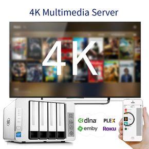 TerraMaster F4-220 NAS 4Bay Cloud Speicher Server Intel Dual-Core 2,4GHz Netzwerkspeicher RAID – Bild 4