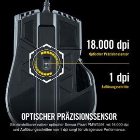 Corsair CH-9307011 IRONCLAW RGB FPS Gaming Maus 18000 DPI Optisch USB schwarz – Bild 3