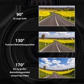 TrueCam A7s GPS Professionelle Dashcam Autokamera 2K Super HD (FULL HD 1080p bei 21:9 Super Breitbild) mit Blitzerwarner – Bild 8