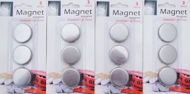 Magnete Edelstahl 30 mm für Kühlschrank guter Halt für Flip Chart White Board 12 Stück