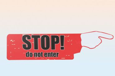 Schild Stop do not Enter Warnschild XL im Vintage Retro Design 70 cm