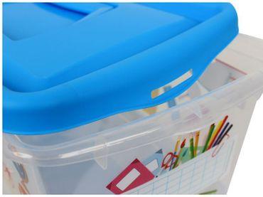Aufbewahrungsboxen für Kinder transparent mit Deckel und Handgriff 4 Liter 3 Stück sortiert – Bild 2