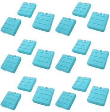 Kühlakku Kühlelemente Klein Blau für Kühltasche 18 Stück Set – Bild 2