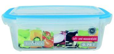 Frischhaltedosen Vorratsdosen transparent Deckel mit Clickverschluss 750 ml 6 Stück – Bild 2