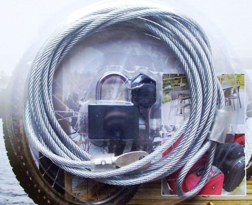Stahlseil Schlaufenkabel mit Kunststoff ummantelt 300 cm Ø 4 mm ...
