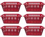 Aufbewahrungskorb Körbchen Schrankkorb Kunststoff Rot 36,5 cm 6 Stück 001