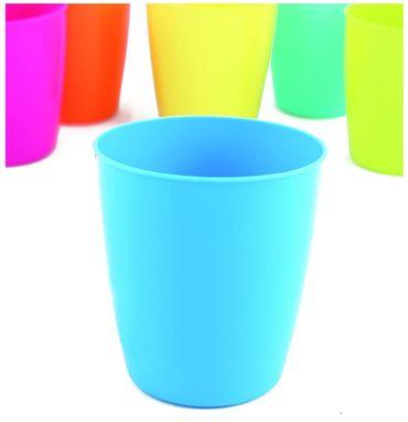 Becher Trinkbecher Kunststoff 250 ml für Camping oder Party 6 farbig sortiert 24 Stück