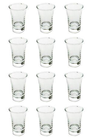 Schnapsgläser Shooter Stamper Glas klassische leichte V-Form 40 ml 12 Stück – Bild 1