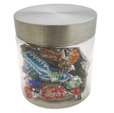 Vorratsglas Bonbonglas Aufbewahrungsglas für Lebensmittel XL 900 ml mit Edelstahldeckel   – Bild 1