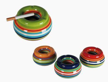 Sturmaschenbecher Aschenbecher für Balkon und Terrasse im Streifen Design Keramik  – Bild 3