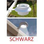 LED Solar Außenleuchten Dachrinnenleuchten Hausbeleuchtung schwarz 3 LEDs Ø 12 cm 2 Stück 001
