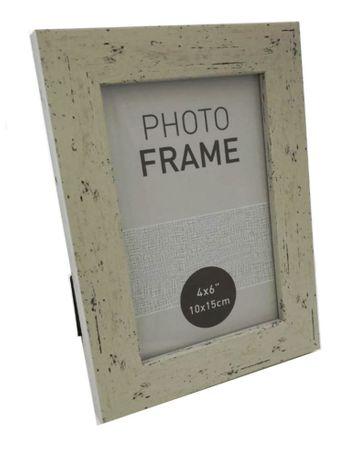 Bilderrahmen Fotorahmen Kunststoff Rahmen in Holz vintage Optik für Bildformat 10 x 15 cm 1 Stück – Bild 2