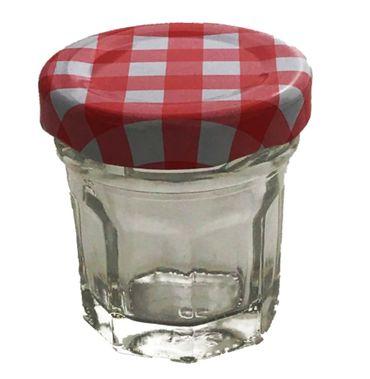 Einmachgläser Vorratsgläser Mini Portionsgläser eckige Form runder Drehverschluss 30 ml 18 Stück  – Bild 2