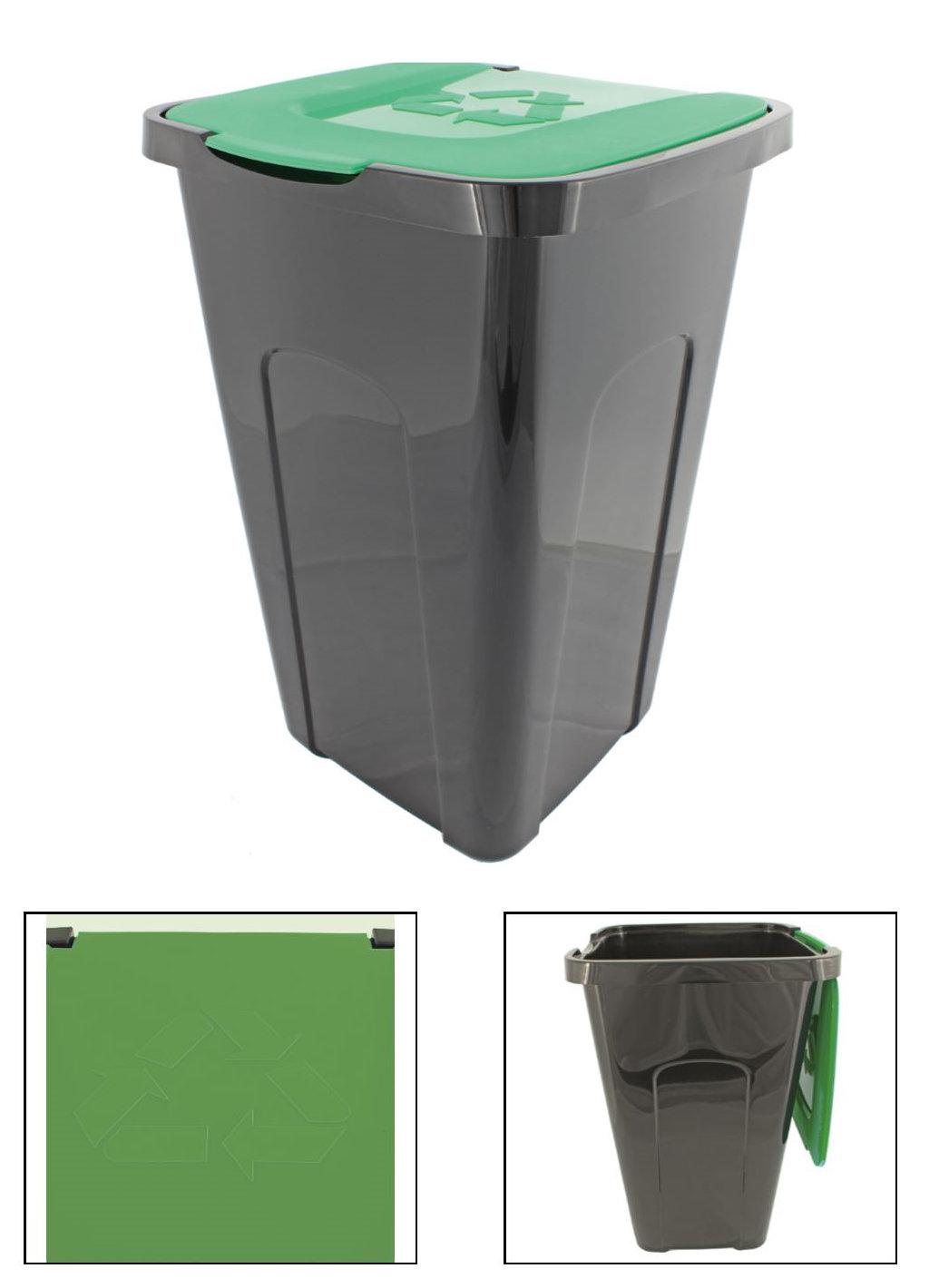 abfalleimer m lleimer recyclingtonne xl schwarz mit. Black Bedroom Furniture Sets. Home Design Ideas