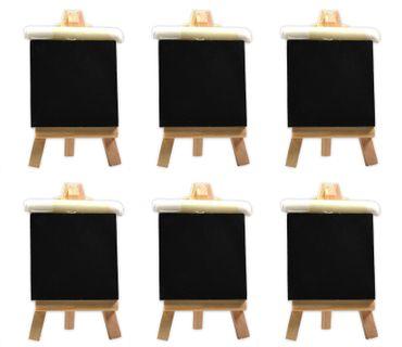 Mini Tafel mit Staffelei und Kreide zum Beschriften für Namensschilder Hochzeiten Geburtstage 6 Stück – Bild 1