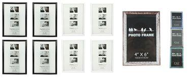Bilderrahmen Fotorahmen Rahmen Kunststoff für 10 x 15 cm 4 Stück Set Farb-Auswahl
