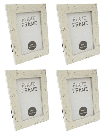 Bilderrahmen Fotorahmen Rahmen Kunststoff Antik vintage Design für 10 x 15 cm 4 Stück Farb-Auswahl – Bild 4