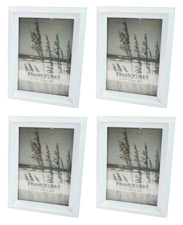 Bilderrahmen Fotorahmen Rahmen Kunststoff klassisches Design 13 x 18 cm 4 Stück Farb-Auswahl – Bild 5
