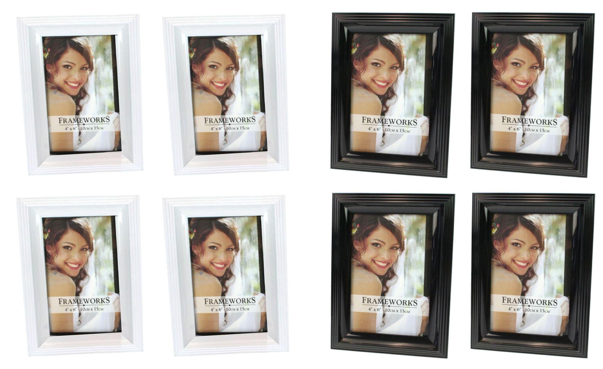 Bilderrahmen Fotorahmen Rahmen Kunststoff klassisches Design 10 x 15 ...