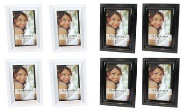 Bilderrahmen Fotorahmen Rahmen Kunststoff klassisches Design 10 x 15 cm 4 Stück Farb-Auswahl – Bild 1