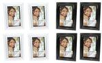 Bilderrahmen Fotorahmen Rahmen Kunststoff klassisches Design 10 x 15 cm 4 Stück Farb-Auswahl 001