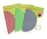 Stoff Hauben für Einmachgläser Marmeladendeckchen Gläserdeckchen Landhaus Stil 9 Stück Set 001