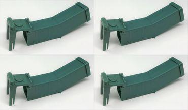 Mausefalle Tierfalle Tierfreundliche Lebendfalle mit Kippfunktion Kunststoff 4 Stück Set