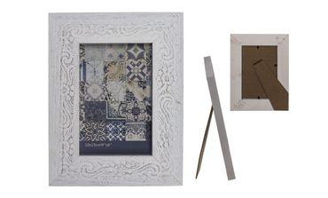 Bilderrahmen Fotorahmen Holz Rahmen Weiß im Vintage Ornament Design 10 x 15 cm oder 13 x 18 cm 1 Stück  – Bild 2