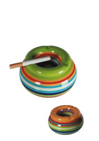 Sturmaschenbecher Aschenbecher für Balkon und Terrasse im Streifen Design Keramik  – Bild 2