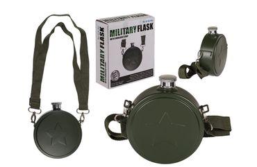 Flachmann Feldflasche Taschenflasche Trinkflasche Edelstahl Army Militär Look 0,5 Liter
