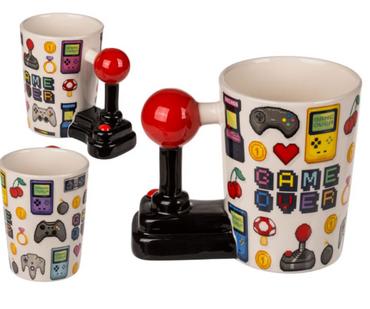 Kaffeebecher Kaffeetasse Tasse für Gamer Zocker im Joystick Design 400 ml 1 Stück