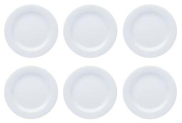 Teller Porzellan Weiß Speiseteller Suppenteller Dessertteller Pastateller Schüssel 6 Stück Set Modell-Auswahl – Bild 2