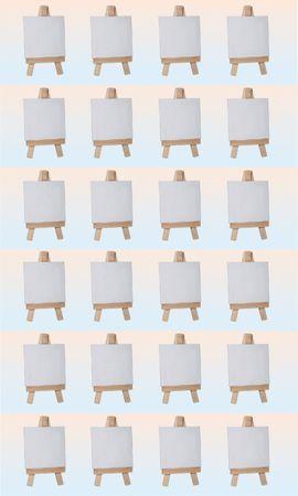 Mini Keilrahmen auf Staffelei 24 Stück Set – Bild 1