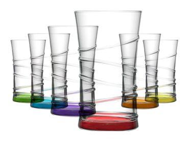 6x Ring  Trinkgläser | Saftgläser | Wassergläser | Longdrink |  Coral