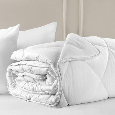 Steppdecke 4 Jahreszeiten | Bettdecke Atmungsaktiv | 200x220cm + 2 Kissen 50x70cm – Bild 2