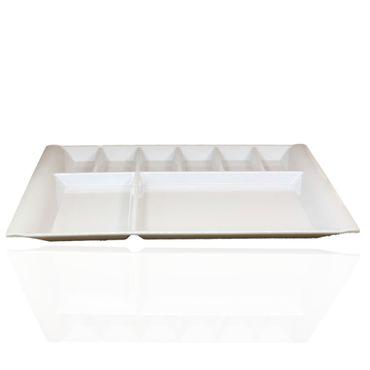 Frühstücksteller | Antipastiteller | Kahvaltitabagi | Hochwertiges Hartplastik | Made in Turkey | 40x26cm – Bild 2