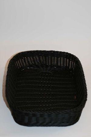 Brotkorb rechteckig schwarz 35 x 25,5 x 7,5 cm Saleen – Bild 2