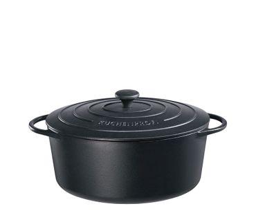 Bratentopf oval Provence 35 cm schwarz Küchenprofi – Bild 1