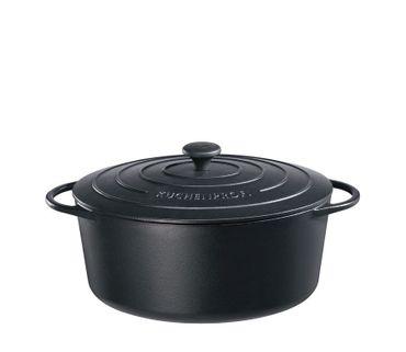 Bratentopf oval Provence 31 cm schwarz Küchenprofi – Bild 1