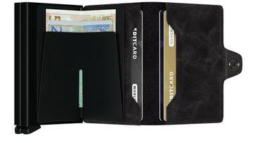 Geldkarten Etui Twinwallet Vintage Black Secrid – Bild 4