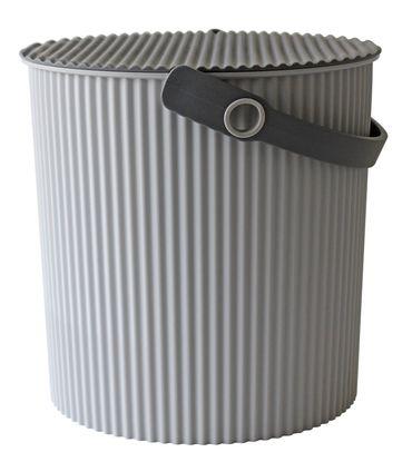 Eimer mit Deckel 20 Liter Grau/ grau Hachiman – Bild 1