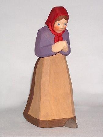 betende Frau, violett, 21,5 cm - Typ 2