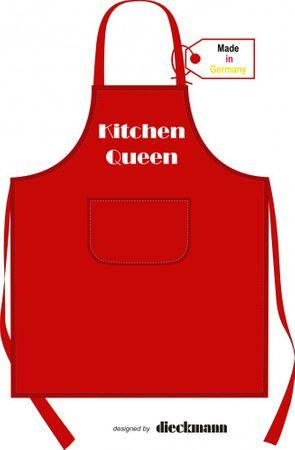 Schürze rot Kitchen Queen  – Bild 1