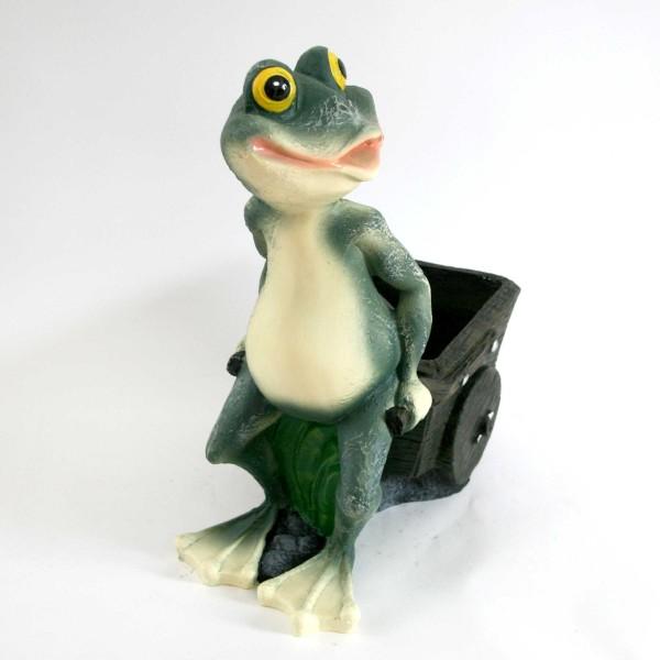 Frosch mit Karre zum Bepflanzen Garten & Terrasse Pflanzkübel