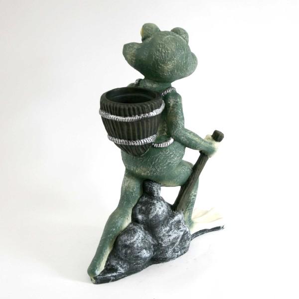 Frosch mit Rucksack zum Bepflanzen Garten & Terrasse Pflanzkübel